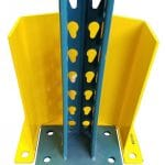 """P12-8 Post Upright Guard wide for oversize footplates 8.5"""" clearance"""