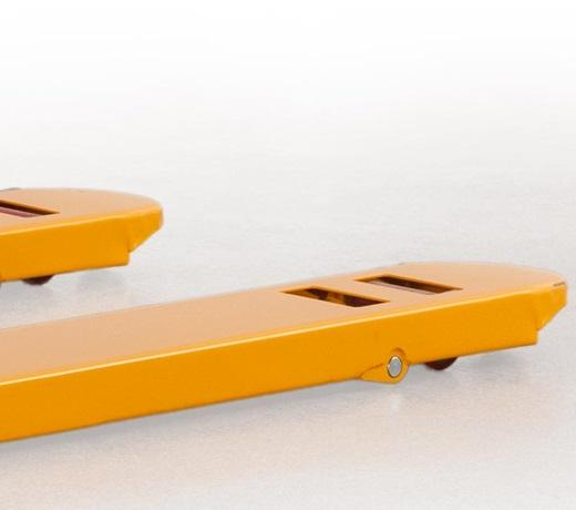 Durable fork construction with solid nylon entry rollers