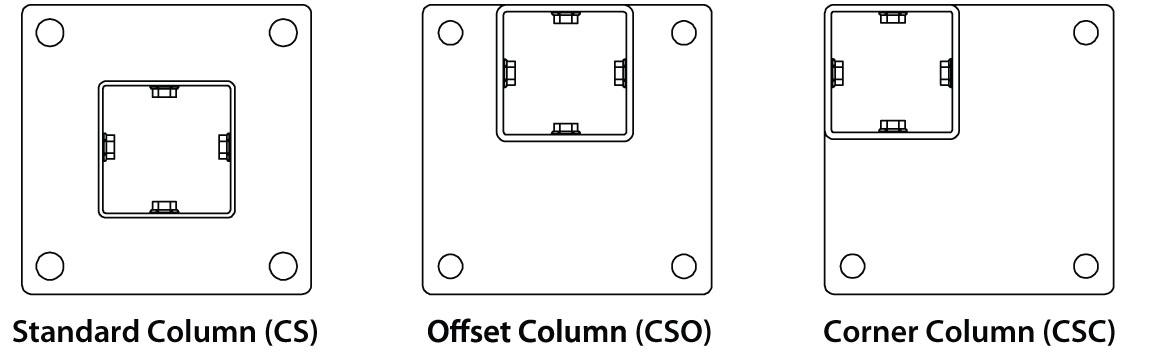 Column Footplate styles