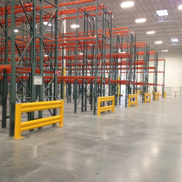 Warehouse Rack Guard Rails