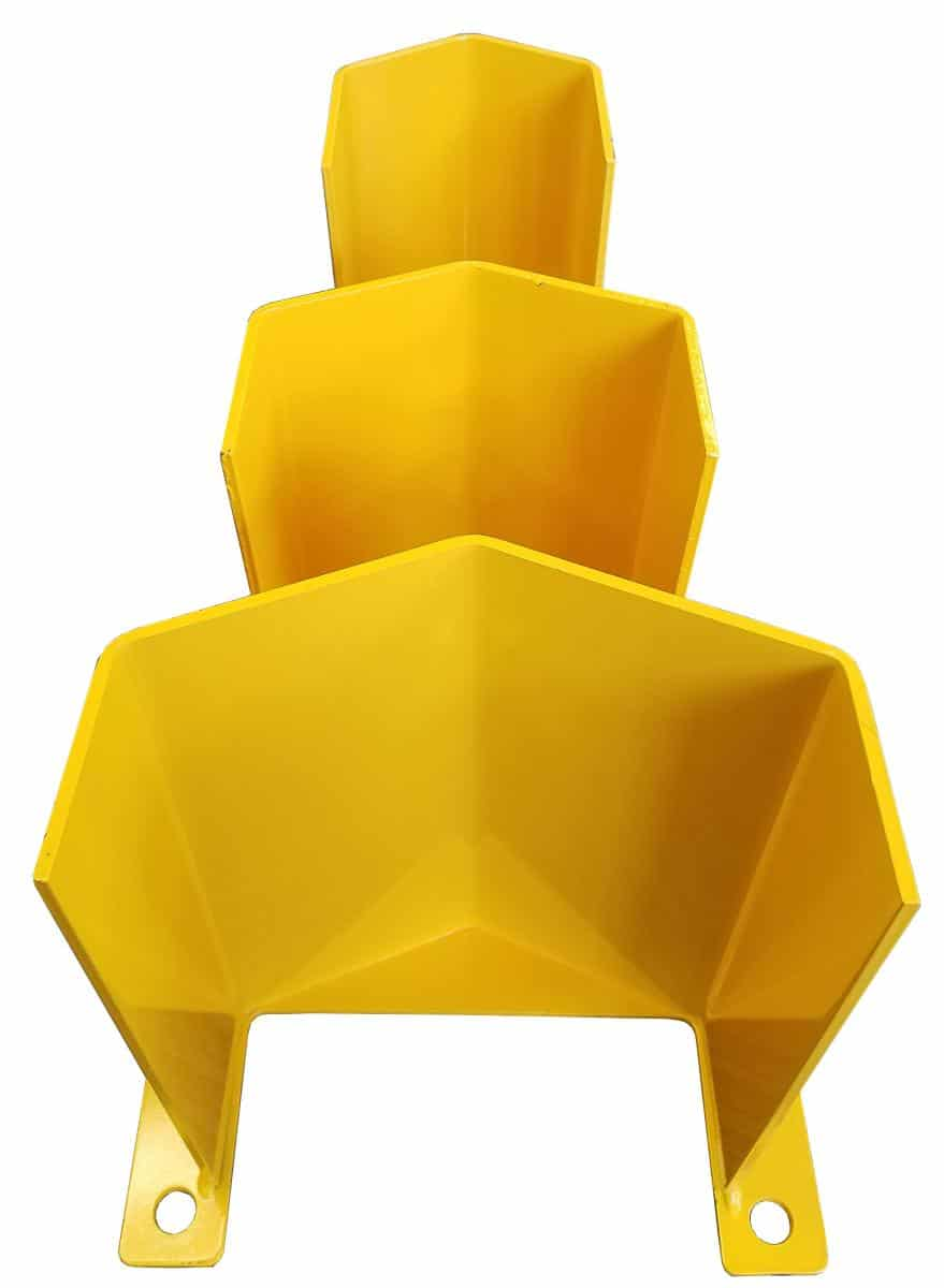 Various size clearances on upright guards