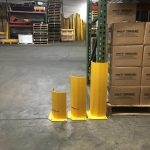 Corner guard for pallet rack uprights