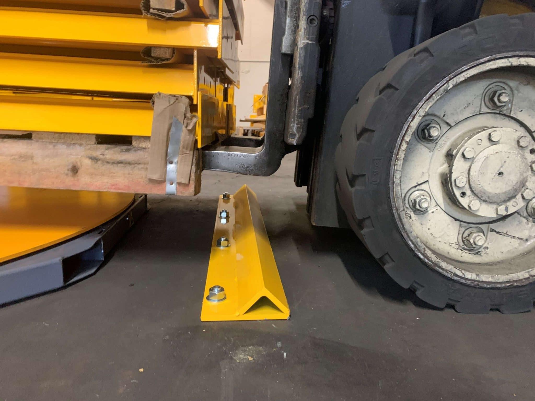 forklift wheel stops