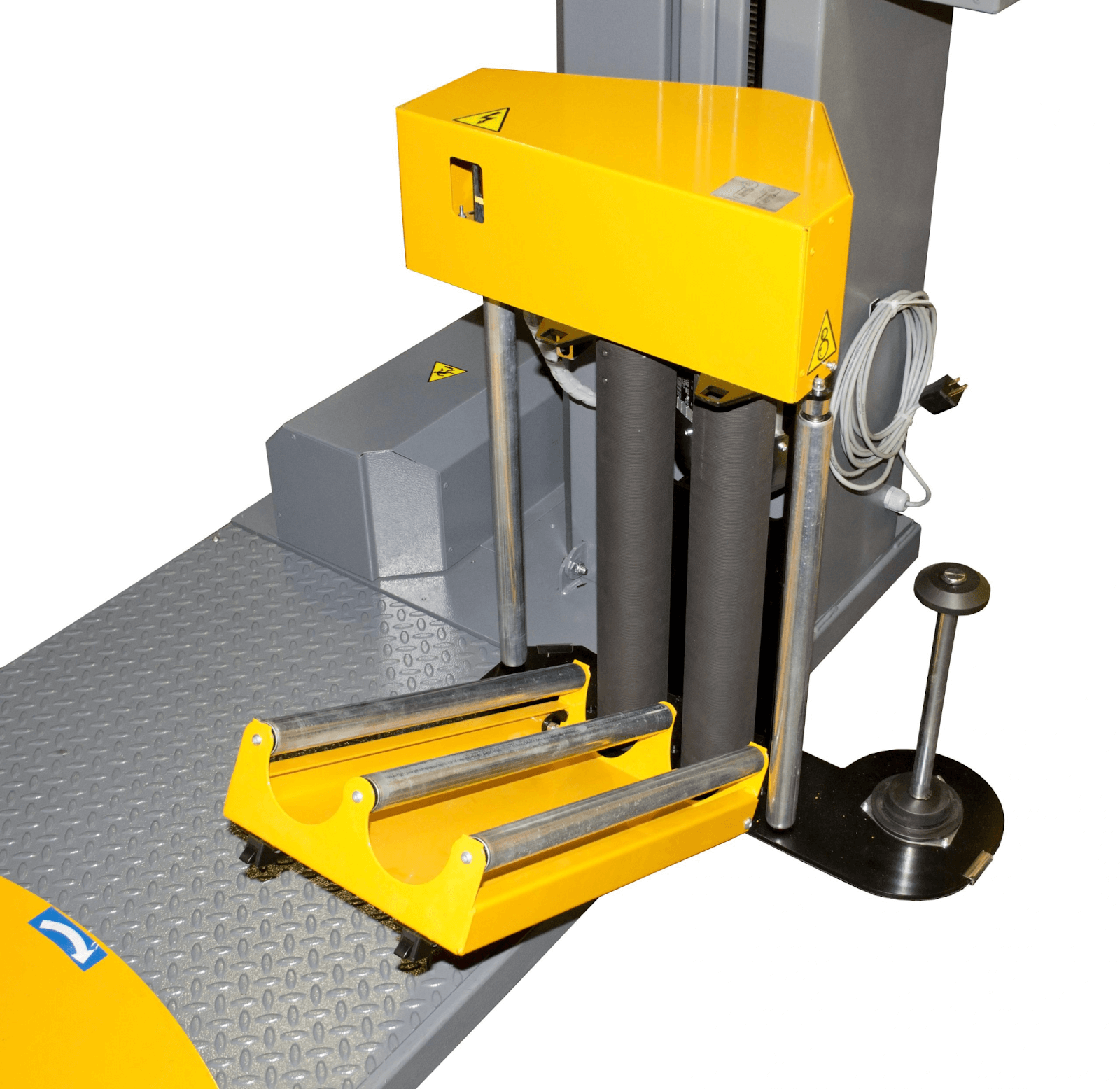 pre-stretch feature on a semi-automatic pallet wrapper